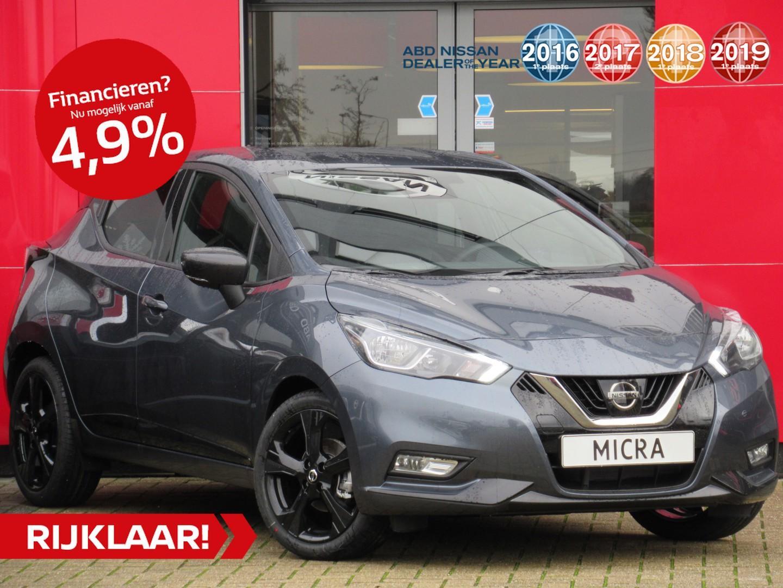 Nissan Micra Ig-t 100pk n-sport normaal rijklaar € 22.777,- nu rijklaar voor € 21.450,-