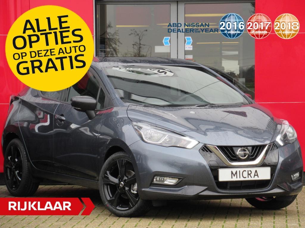 Nissan Micra Ig-t 100pk n-sport normaal rijklaar € 22.777,- nu rijklaar voor € 21.450,- incl. gratis opties