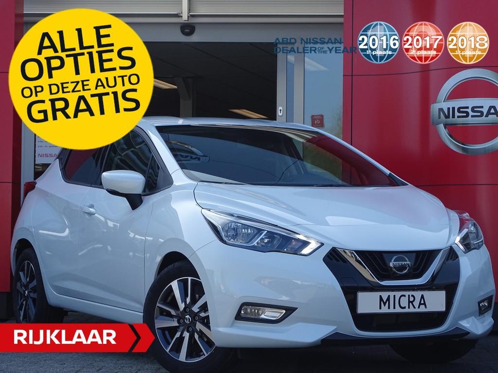 Nissan Micra Ig-t 90pk n-connecta actie prijs, van €20.250 nu voor 19.250,- incl. gratis opties