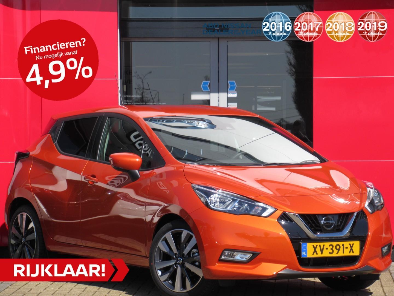 Nissan Micra Ig-t 90pk tekna normaal rijklaar € 22.637,- nu rijklaar 17.900,- // private lease vanaf €299,- per maand!