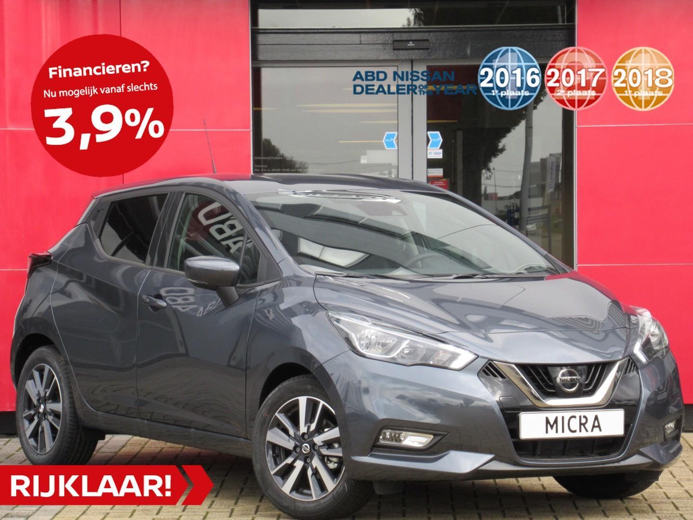 Nissan Micra Ig-t 90pk n-connecta n-way + cold pack normaal rijklaar € 21.627,- nu rijklaar € 17.945,- // private lease vanaf €279,- per maan