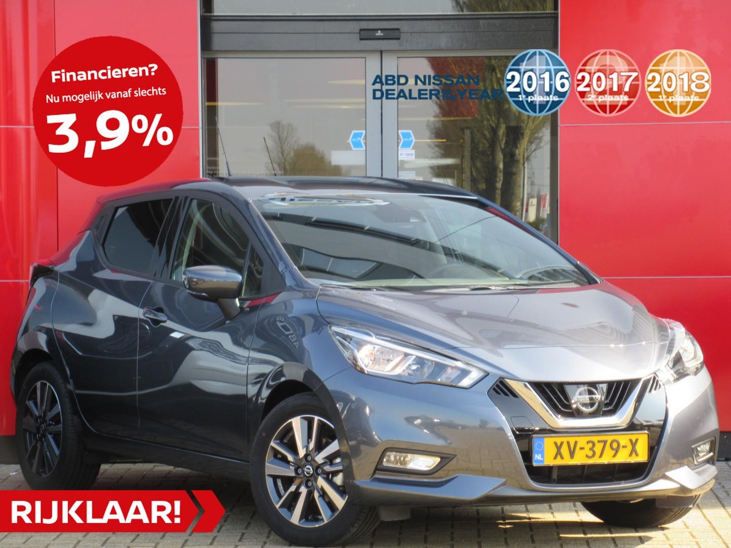 Nissan Micra Ig-t 90pk n-connecta n-way + cold pack normaal rijklaar € 21.627,- nu rijklaar € 17.945,- // private lease vanaf €279,- per maan