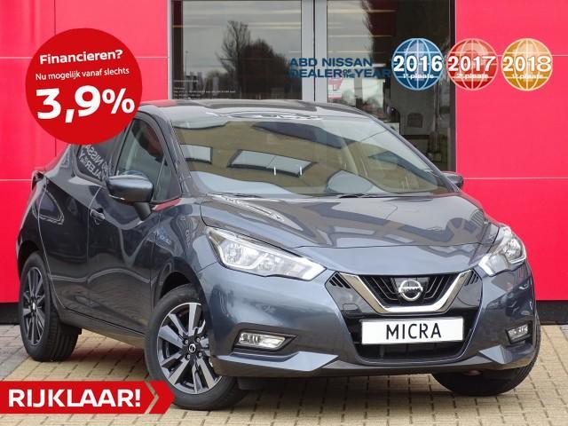 Nissan Micra 1.0l acenta actie prijs! normaal rijklaar €19.500,- nu rijklaar voor €17.945,-