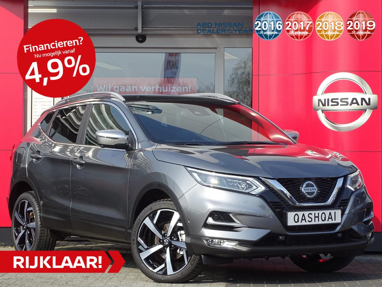 Nissan Qashqai 1.3 dig-t 160pk tekna plus actieprijs! van €41.250,- nu rijklaar voor €39.950,-