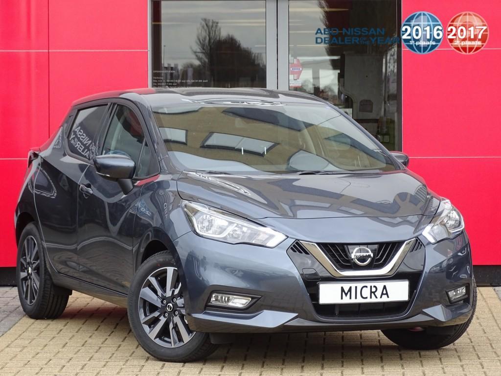 Nissan Micra 1.0l acenta actie prijs, van €18.450,- nu voor €17.450,- airco