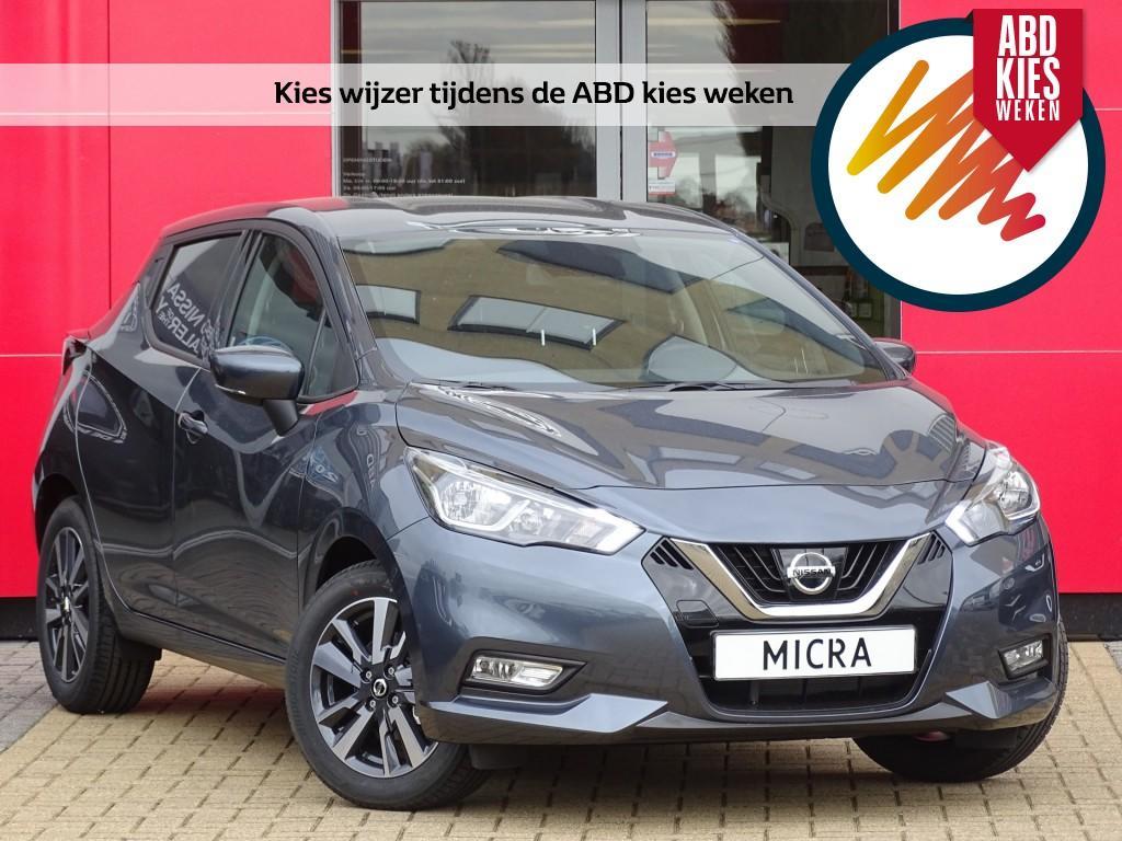 Nissan Micra 1.0l acenta actie prijs, van €18.450,- nu voor €16.450,- airco
