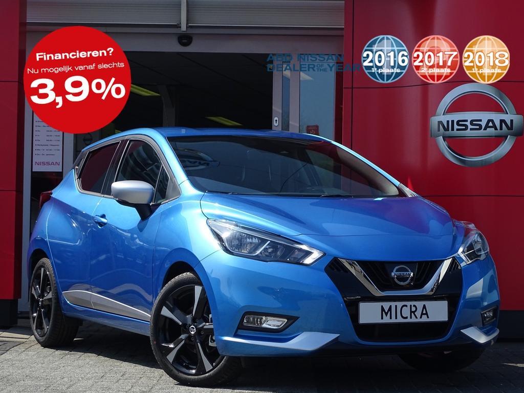 Nissan Micra 0.9 ig-t tekna actie prijs, van €23.950,- nu voor €19.900,-