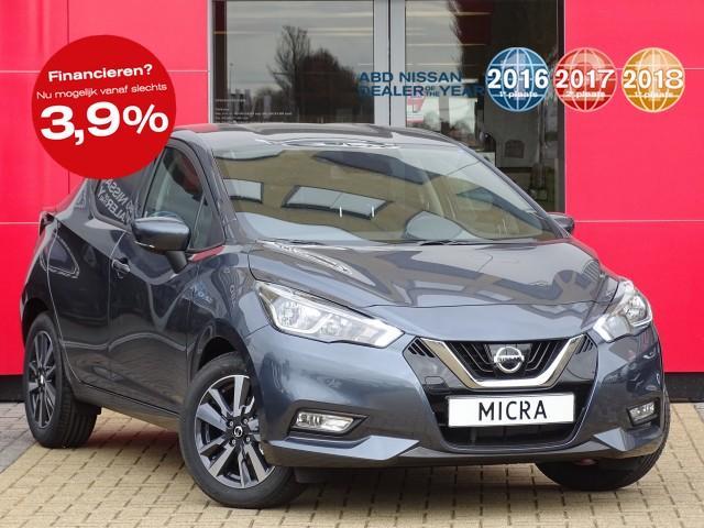 Nissan Micra 0.9 ig-t acenta normaal rijklaar €21.250,- nu rijklaar voor €18.950,-