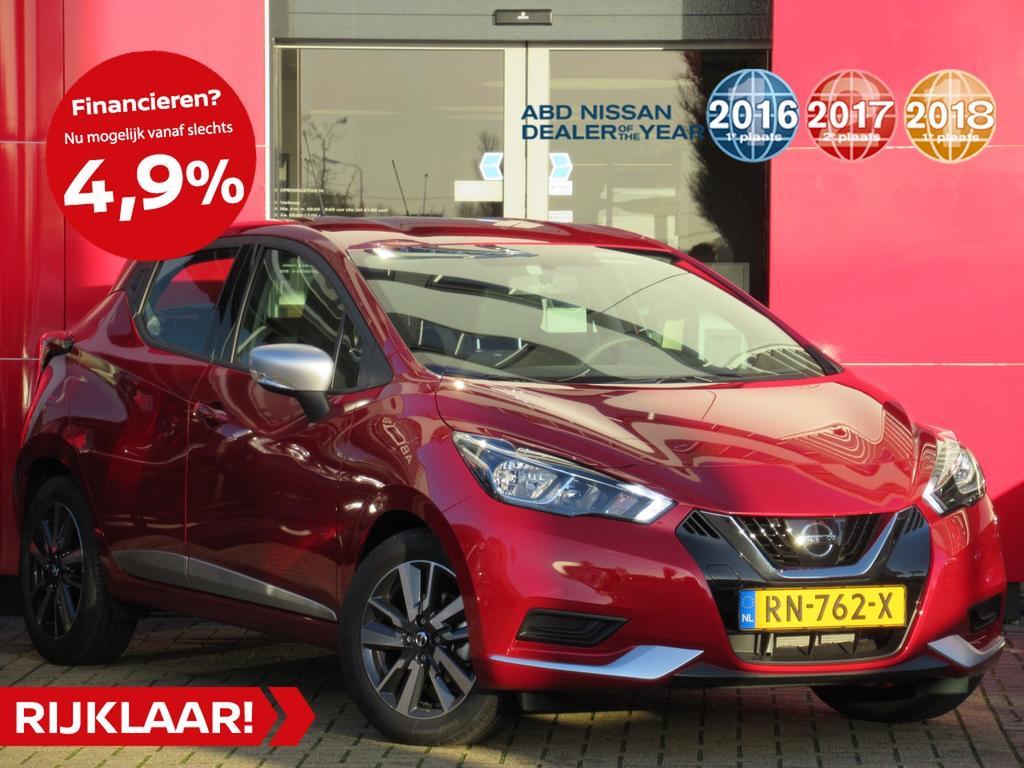 Nissan Micra 1.0l acenta actie prijs! normaal rijklaar €19.500,- nu rijklaar voor €15.800,-