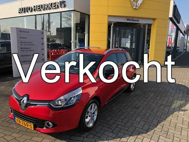 Renault Clio Estate tce 90 limited *fabrieksgarantie tot 08-2018* incl. afneembare trekhaak*