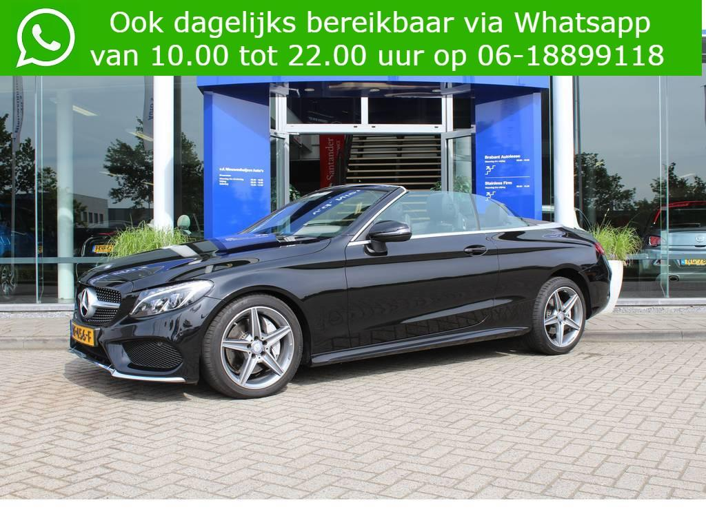 Mercedes-benz C-klasse 250 cabriolet amg autm. leder airscarf camera amg lease vanaf €999,- p/m