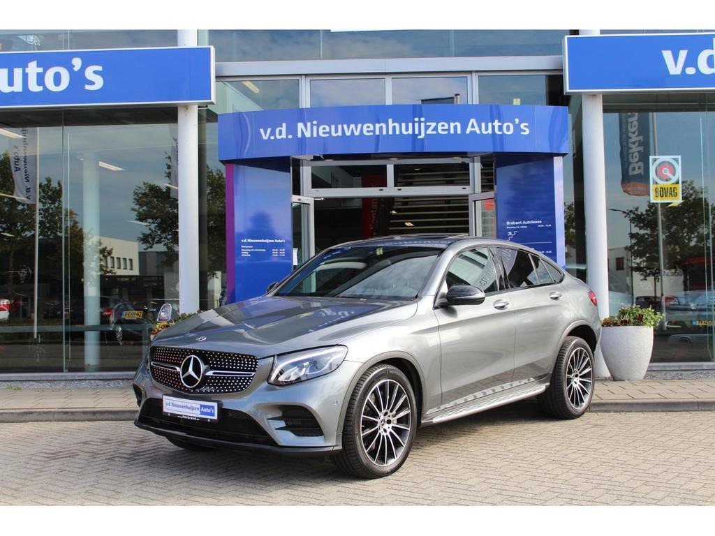 Mercedes-benz Glc-klasse coupé 250 4matic amg coupe night lease vanaf €1299,- p/m schuifdak trekhaak meerspaak 20 inch