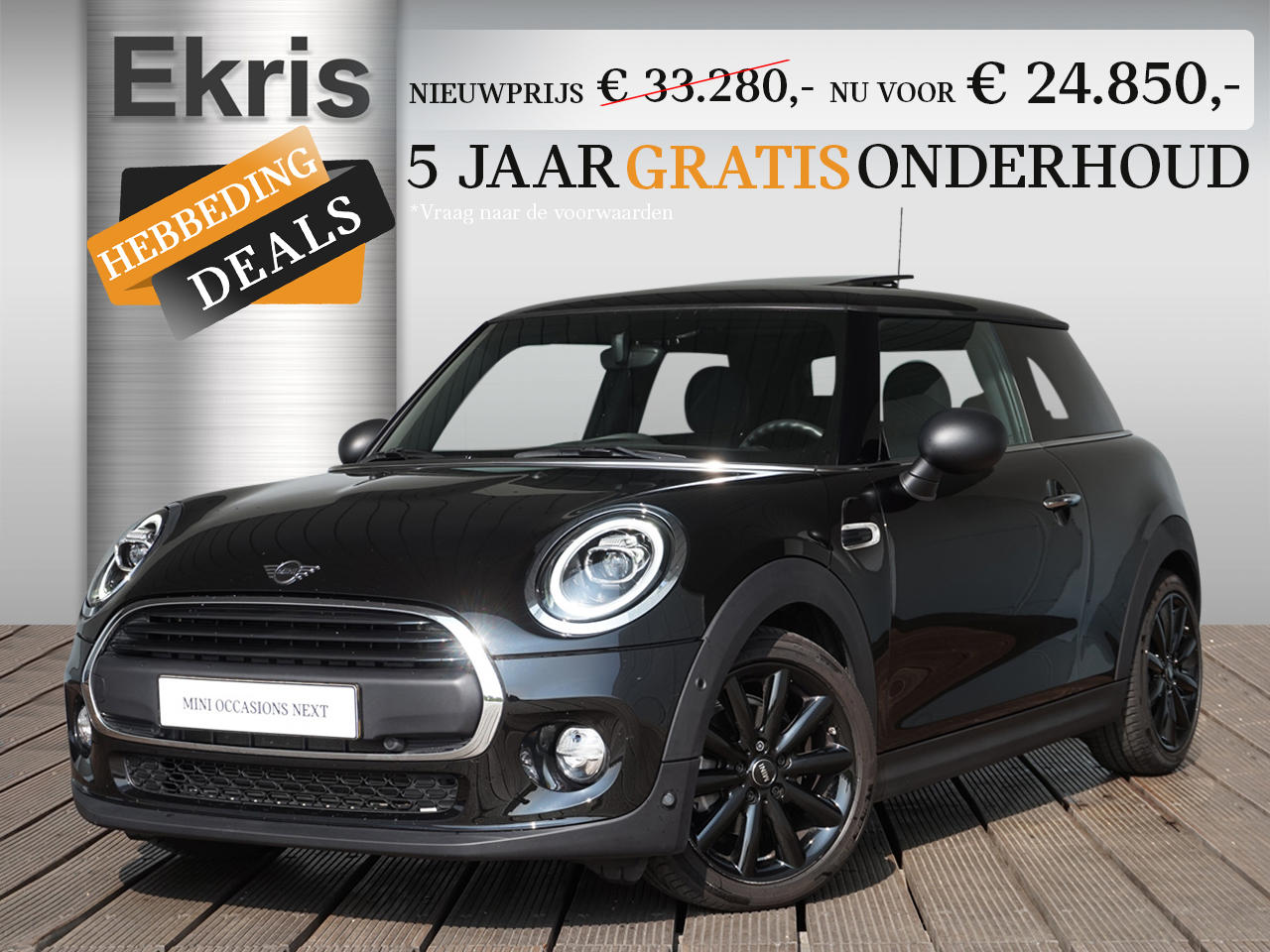 Mini 3-deurs One aut. panoramadak + 17 inch cosmos spoke - hebbeding deals