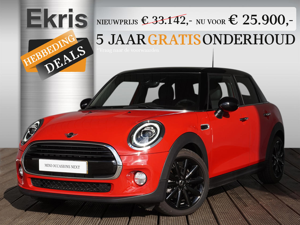 Mini 5-deurs Cooper pepper + business plus - hebbeding deals