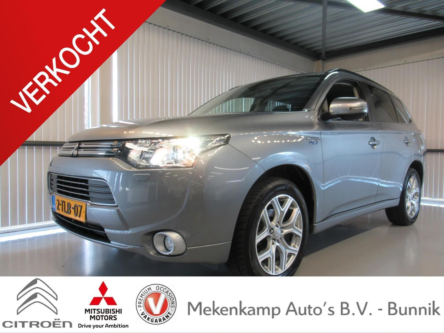 "Mitsubishi Outlander 2.0 phev instyle incl. btw 18""/navigatie/leder/alarm/camera/stoelverwarming/climate/cruise/bluetooth"