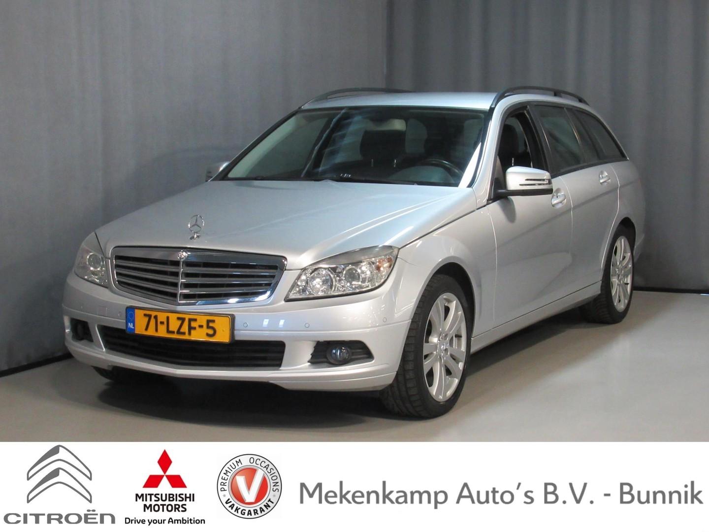 "Mercedes-benz C-klasse Estate 180 k business class 17""/trekhaak/climate/navigatie/stoelverwarming/pdc v+a/xenon/bluetooth"