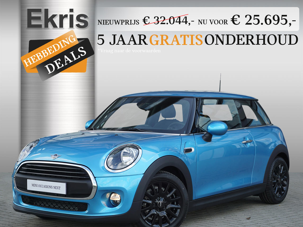 Mini 3-deurs One aut. pepper + business + pdc - hebbeding deals