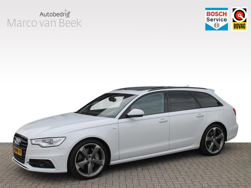 Audi A6 3.0 tdi 313 pk bi-turbo s-line pano keyless trekhaak adaptive cruise control navi nw.prijs € 123.506 verkocht
