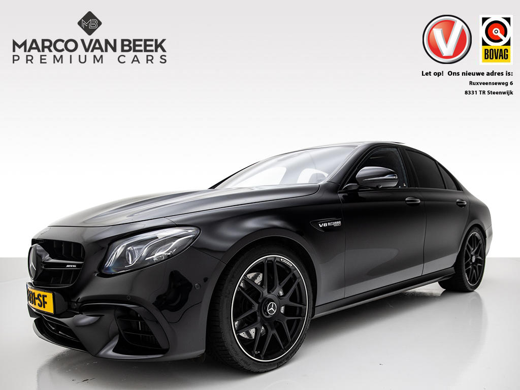 Mercedes-benz E-klasse E 63 amg 4-matic+ facelift nw.prijs € 192.907 performance uitlaat + stoelen widescreen led pano distronic plus standkachel memory