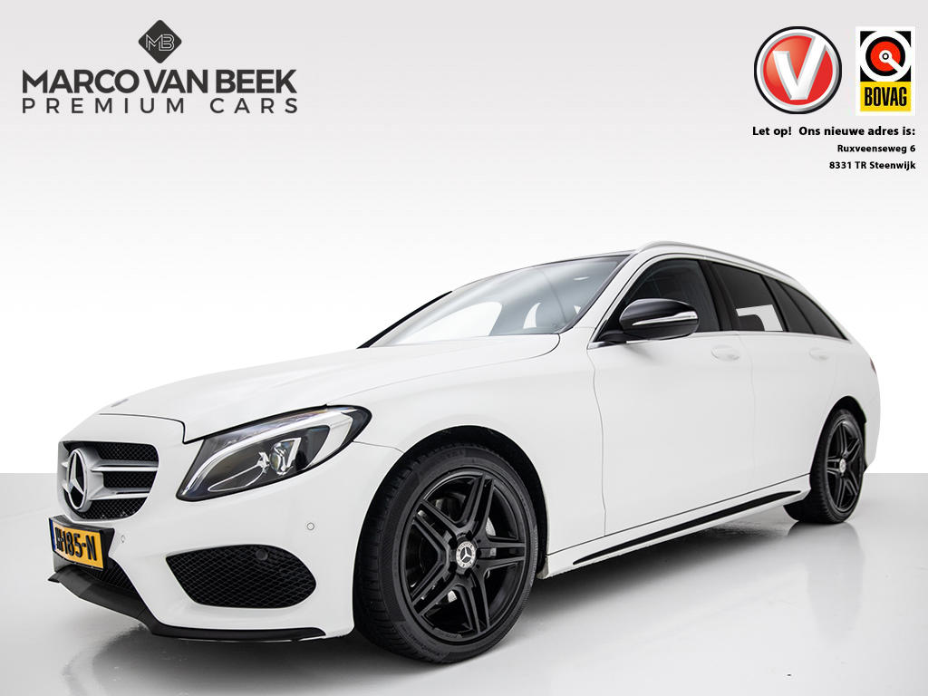 Mercedes-benz C-klasse Estate c 220 cdi edition 1 amg aut. nw. prijs € 64.129 led night 18 inch leder