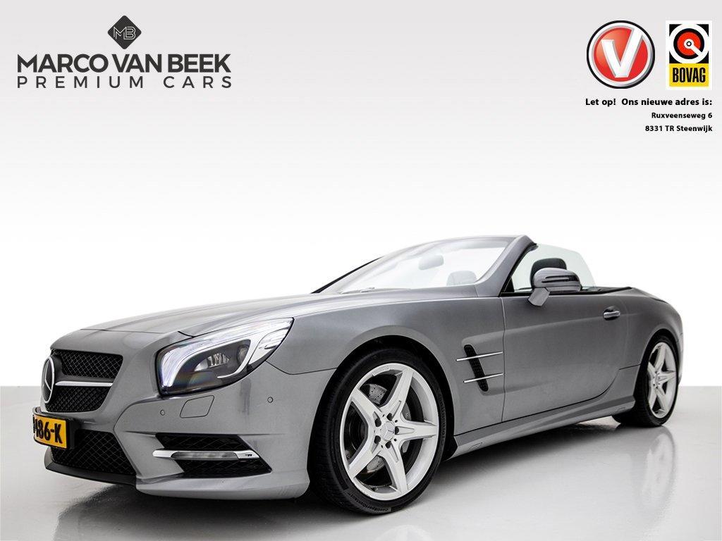 Mercedes-benz Sl-klasse 350 amg nw.prijs € 124.975 airscarf pano magic sky 19 inch