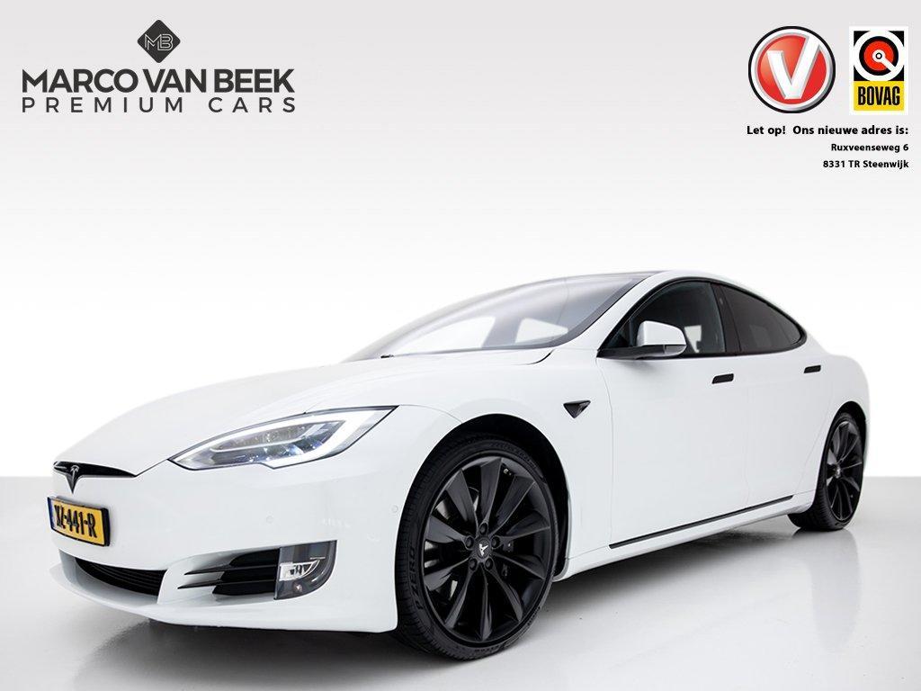 Tesla Model s 100d long range 423 pk prijs ex btw nw. prijs € 100.340 ex  + 4% bijtelling autopilot awd premium + essenhout