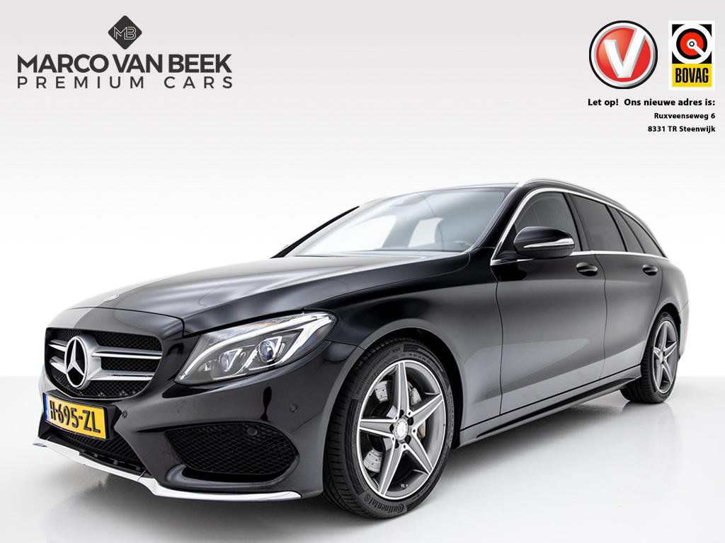 Mercedes-benz C-klasse Estate 250 prestige amg nw. prijs €62.638 comand burmester climate cruise