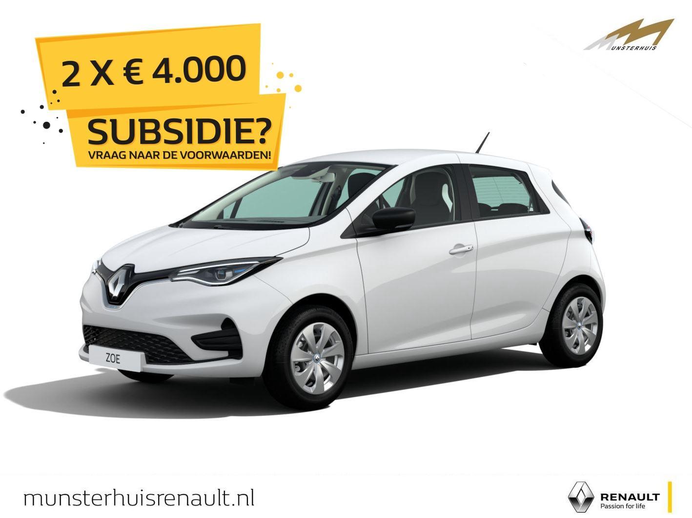 Renault Zoe R110 life z.e. 50 - batterijkoop - nieuw model - wordt verwacht !