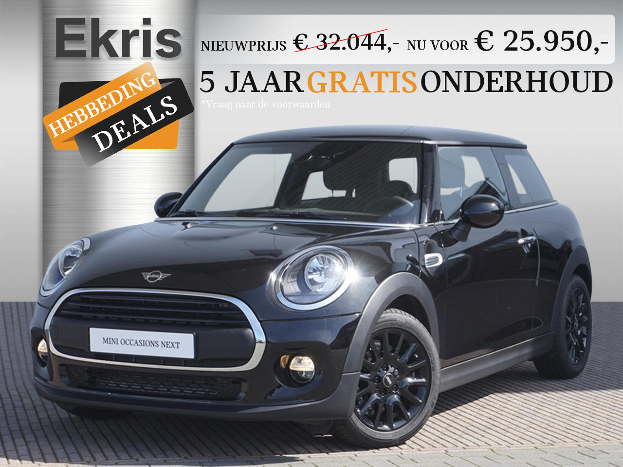 Mini 3-deurs One aut. pepper + business - hebbeding deals