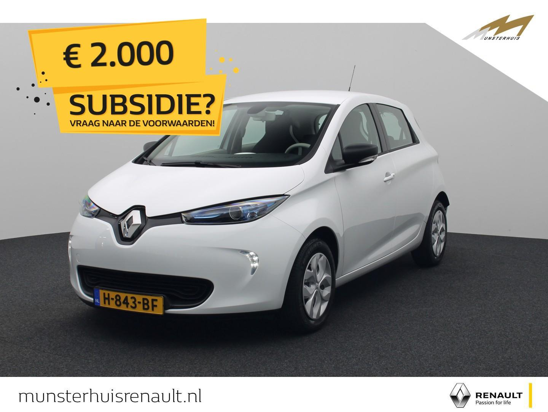 Renault Zoe R90 life 41 kwh - 4% bijtelling - demo - batterijkoop - €2.000,- overheidssubsidie