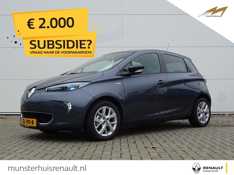 Renault Zoe R110 limited 41 kwh - 4% bijtelling - batterijkoop - €2.000,- overheidssubsidie !