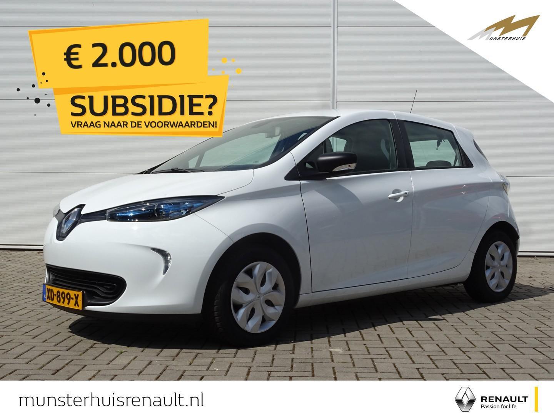 Renault Zoe R90 life 41 kwh - 4% bijtelling - batterijkoop - €2.000,- overheidssubsidie !