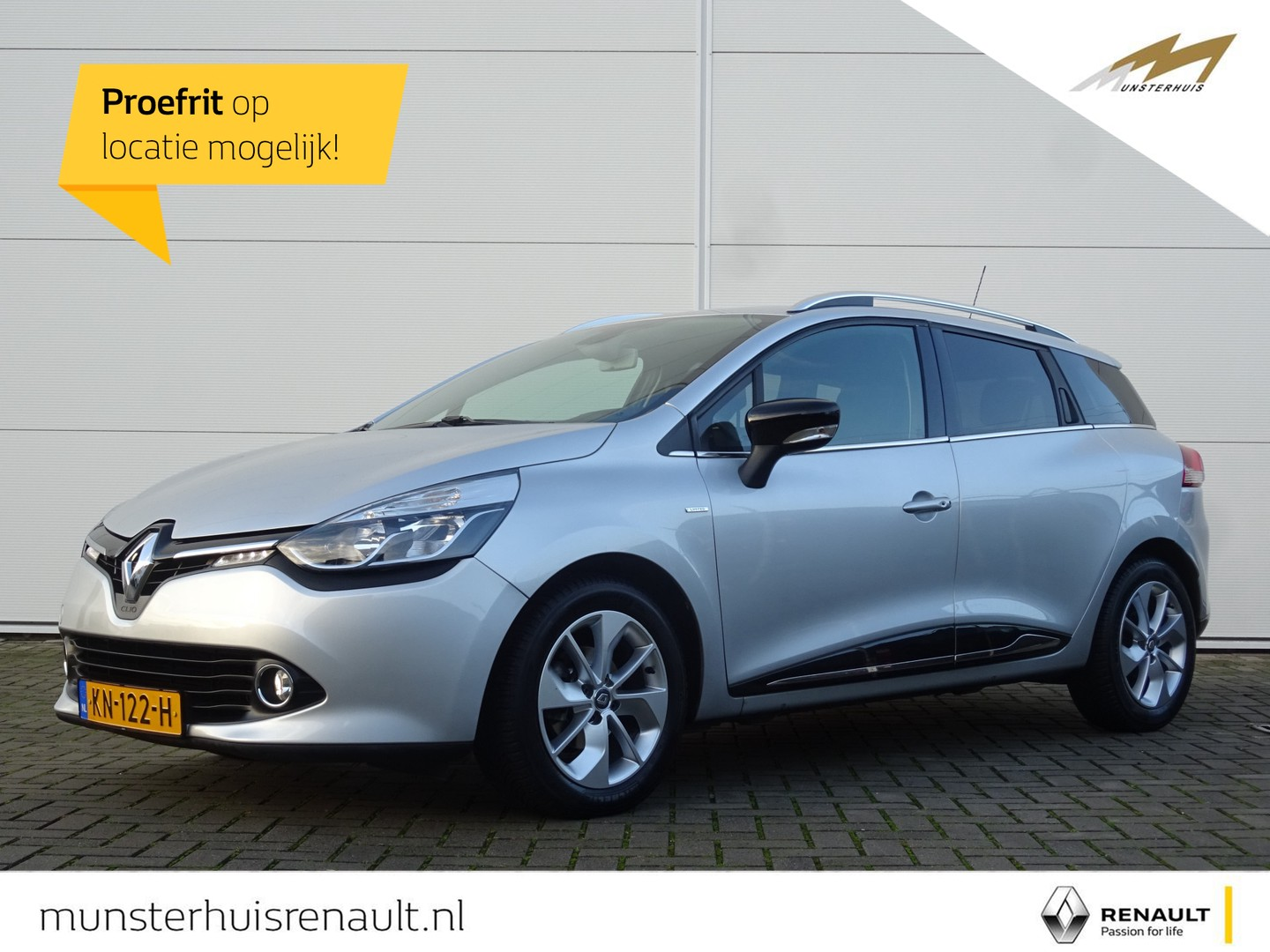 Renault Clio Estate energy dci 90 limited - trekhaak - armsteun voor