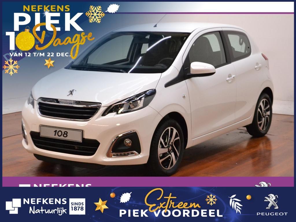"""Peugeot 108 1.0 68pk allure * airco * touchscreen * 15"""" lm velgen *"""