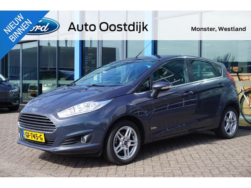 Ford Fiesta 1.0 ecoboost titanium 100pk 5-drs navi airco trekhaak bluetooth van 1e eigenaar