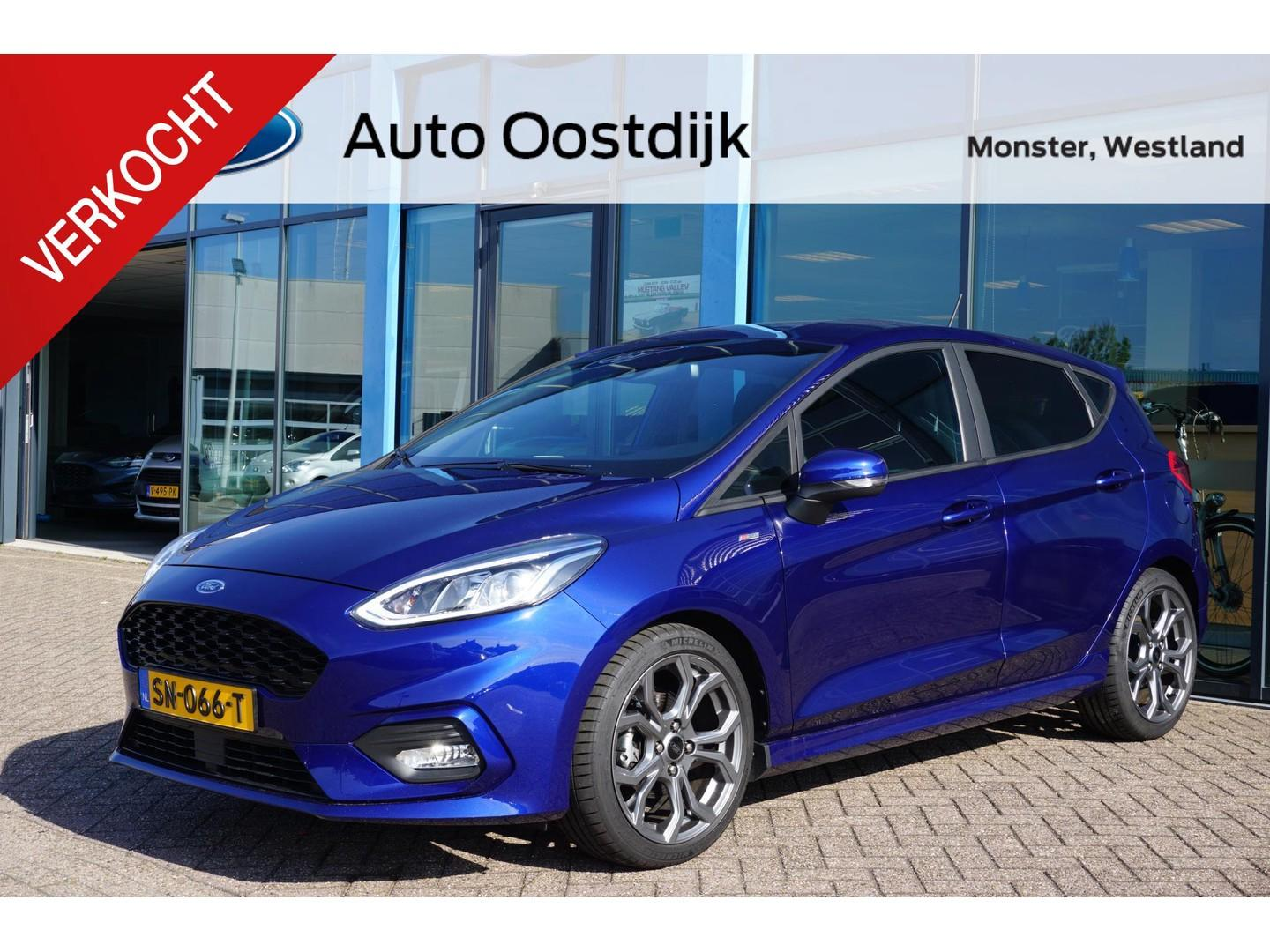 Ford Fiesta 1.0 ecoboost st-line 100pk navi climate voorruitverwarming cruise control privacy glass dagrijverlichting