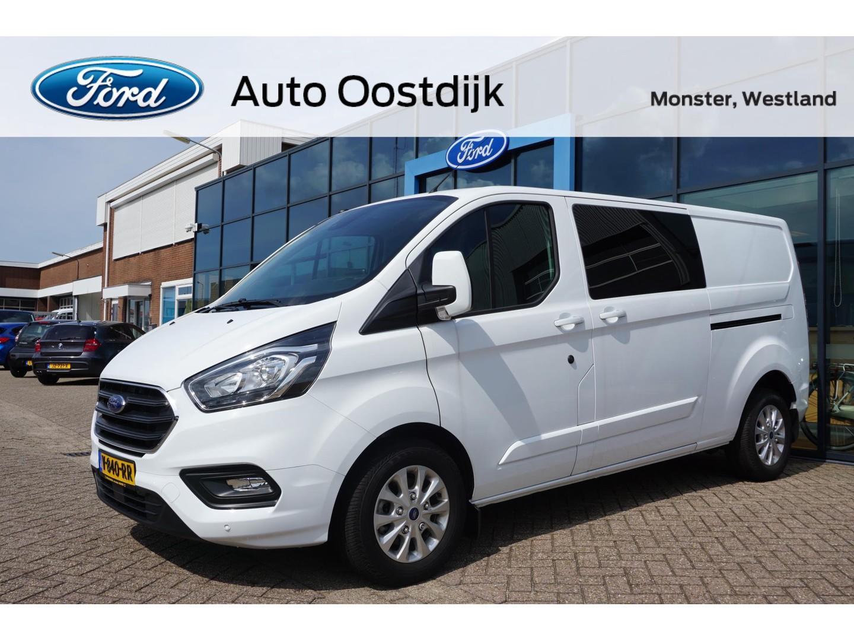 Ford Transit custom 320 2.0 tdci l2h1 limited dc 130pk navi trekhaak dubbele schuifdeur cruise control *dubbel cabine*