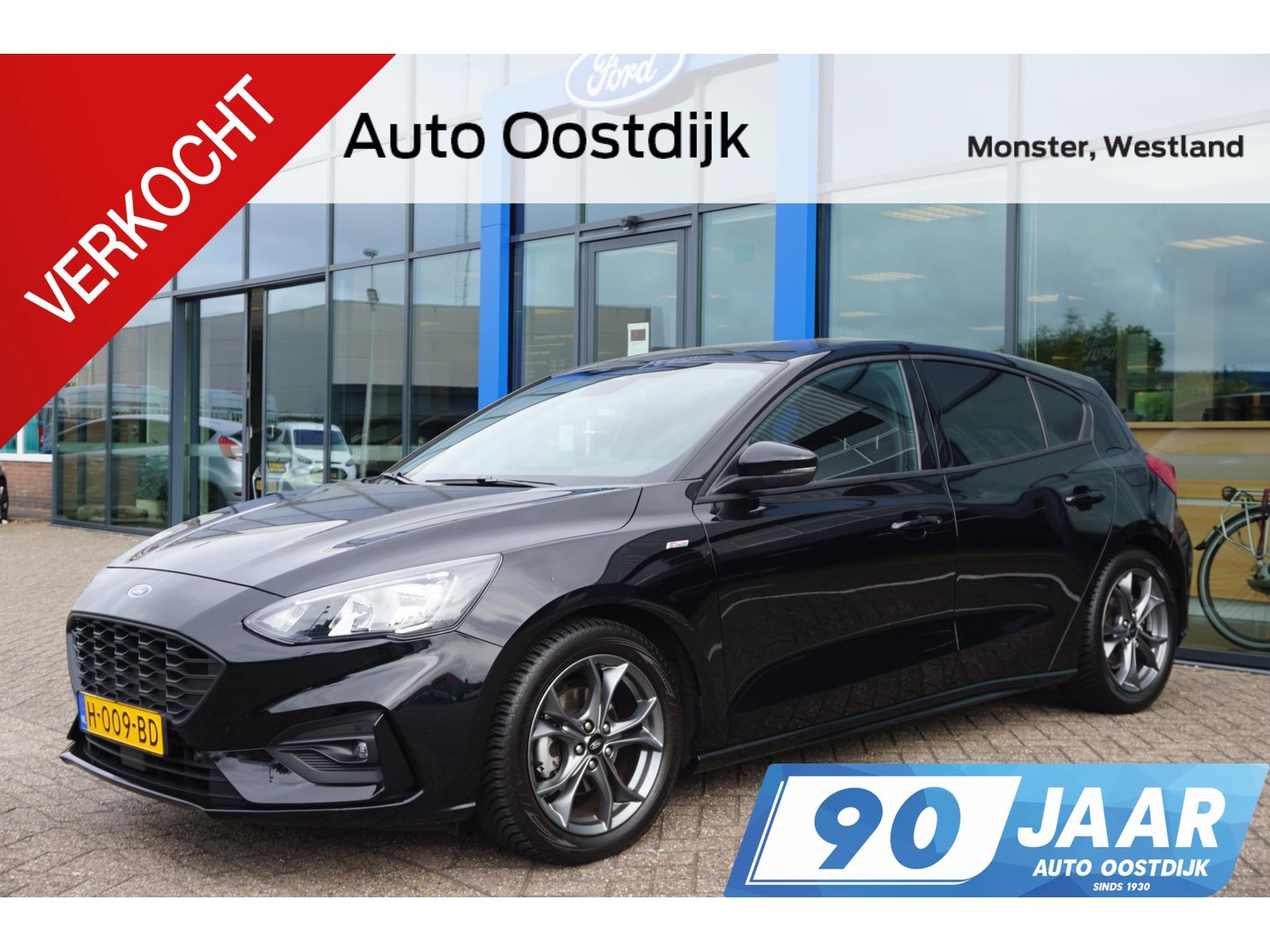 Ford Focus 1.0 ecoboost st line business 125pk navi winterpack cruise control privacy glass parkeersensoren *actie prijs*