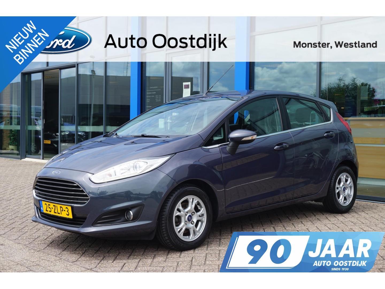 Ford Fiesta 1.6 tdci titanium 95pk climate control voorruitverwarming parkeersensoren bluetooth *dealer onderhouden*