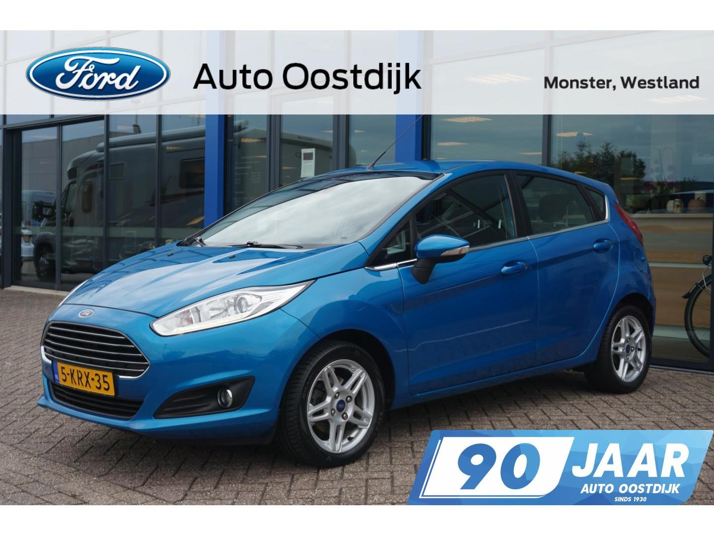 Ford Fiesta 1.0 ecoboost titanium 100pk 5-drs navi climate voorruitverwarming cruise control *dealer onderhouden*