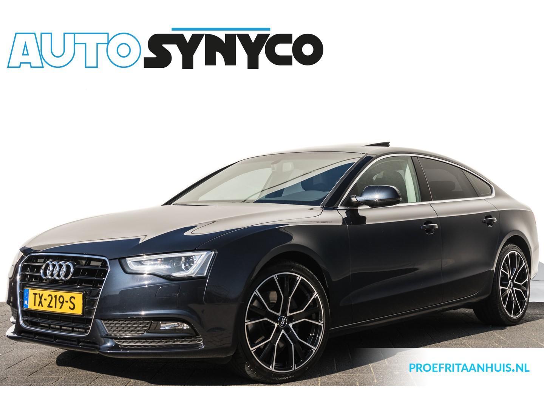 "Audi A5 Sportback 3.0 tdi 204 pk automaat ecc/navi/leder/open dak/xenon/led/trekhaak/19"" lm velgen/55.916 km!!"