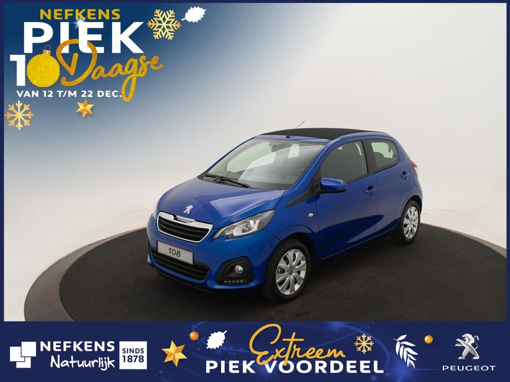Peugeot 108 1.0 e-vti active top! * airco * bluetooh * cabriodak *voorraadvoordeel bij nefkens*