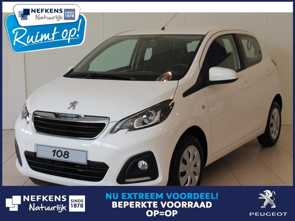Peugeot 108 1.0 68 pk active premium pack private lease voorraadkorting