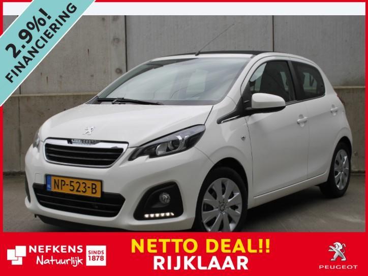 Peugeot 108 1.0 vti active top! *open dak*airco*led*cabrio* * rijklaar * netto deal *